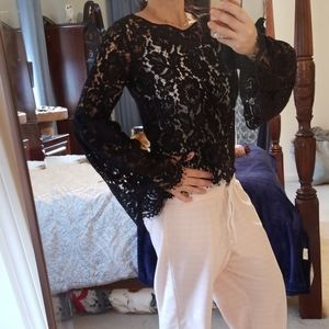 NEVER WORN! BEBE LACE SEE THROUGH SHIRT